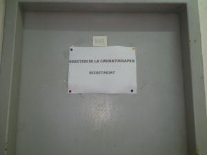 """Cartel de la Dirección General de Cinematografía en su """"ubicación fantasma"""""""