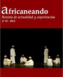 Portada del número 10 de la revista Africaneando, editada por oozebap