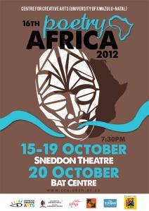 Cartel de la edición 2012 de Poetry Africa