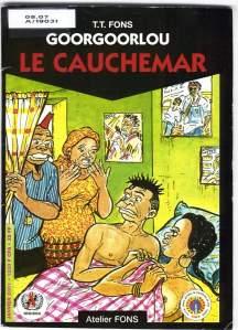 Portada de Le cauchemar, uno de los álbumes de Goorgoorlou, de T.T. Fons