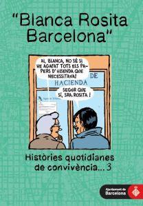 Portada del tercer cómic de la serie Blanca Rosita Barcelona