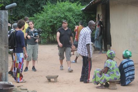 Imagen robada durante el rodaje del documental en el que todo, todo se debate. Foto: C.B.E.